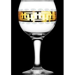 "Бокал для вина 260мл/6 (Бистро) декор ""Меандр"" EAV26-411 Гусь хрустальный"