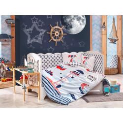 Постельное белье детское Hobby Sailor голубой
