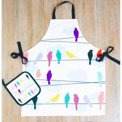 Набор для кухни Barine - Birds фартук с прихваткой