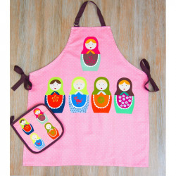 Набор для кухни Barine - Nesting Doll фартук с прихваткой
