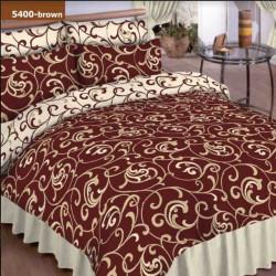 Постельное белье евро №6 Viluta Ранфорс 5400 коричневое