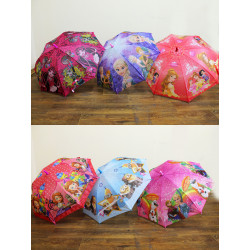 Зонт-трость с рисунком 6 видов полуавтомат CEL-22