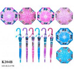 Зонт-трость с рисунком 6 видов полуавтомат K204B