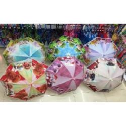 Зонт-трость с рисунком 6 видов полуавтомат M01011