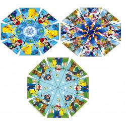 Зонт-трость с рисунком 3 вида полуавтомат U151P