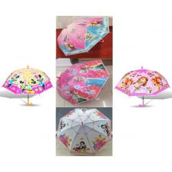 Зонт-трость с рисунком 5 видов полуавтомат SN-007