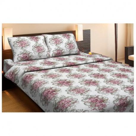 Постельное белье двуспальное Lotus Ranforce - Nancy розовый