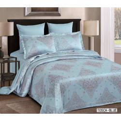 Постельное белье двуспальное голубое Arya Tosca