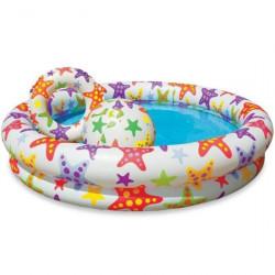 Надувной бассейн с кругом и мячем Intex 59460