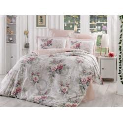 Комплект постельного белья евро Hobby Poplin - Clementina светло-розовый