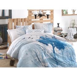 Комплект постельного белья евро Hobby Exclusive Sateen - Alandra голубой
