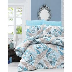Комплект постельного белья евро LightHouse Montana голубой