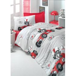 Комплект постельного белья евро LightHouse ranforce Racing Cars