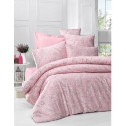 Постельное белье евро Victoria Sateen - Verano розовый
