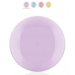 Тарелка пластиковая 20см Bager Clover MIX BG-404