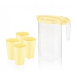 Набор для напитков пластиковый 5пр Bager Yellow BG-424 Y