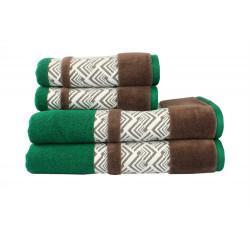 Полотенце махровое 50х90 Hobby - Nazende зеленый/коричневый