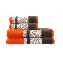 Полотенце махровое 50х90 Hobby - Nazende оранжевый/коричневый