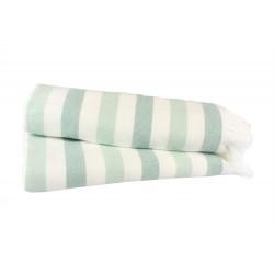 Полотенце пляжное махровое 70х140 Hobby - Stripe Peshtemal мятный