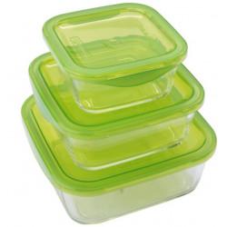 Набор емкостей для еды квадратных Luminarc Keep'n'Box N0018