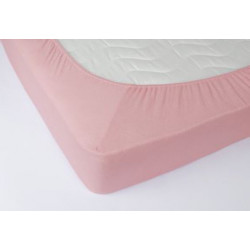 Простынь махровая на резинке 160*200+25 Lotus - Розовая