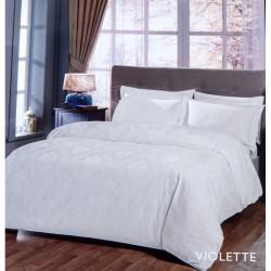 Постельное белье евро Tac жаккард - Violette белый