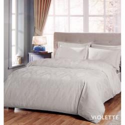 Постельное белье евро Tac жаккард - Violette серый