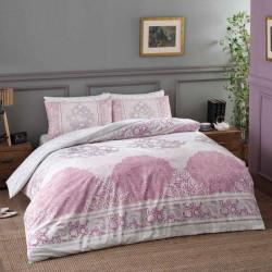 Постельное белье семейное Tac ранфорс - Aryan pembe v02 розовый