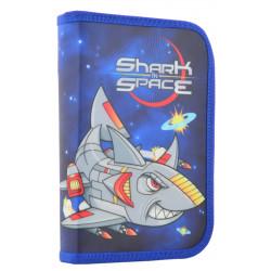 Пенал твердый одинарный с двумя клапанами Shark space 1 Вересня 531734