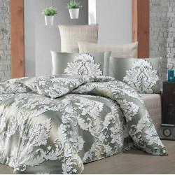 Комплект постельного белья евро LightHouse бязь голд  - Damask бежевый