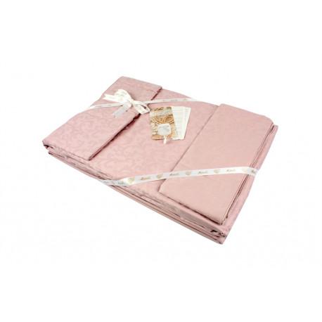 Постельное белье евро La Perle Sateen жакард темно-розовый