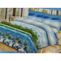 Постельное белье двуспальное ТЕП Washed Cotton 003 Blue whale