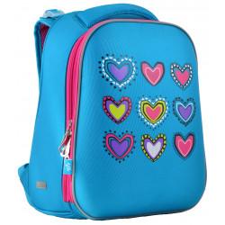 Рюкзак каркасный H-12-1 Hearts turquoise YES 554490