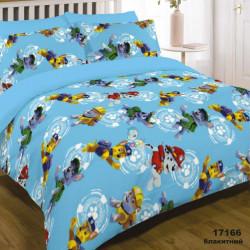 Постельное белье подростковое Viluta Ранфорс 17166 голубое