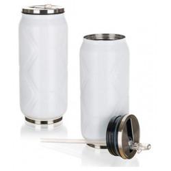 Термокружка с трубочкой 370 мл Banquet beCOOL Белая