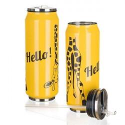 Термокружка с трубочкой 430 мл Banquet beCOOL Giraffe Желтая