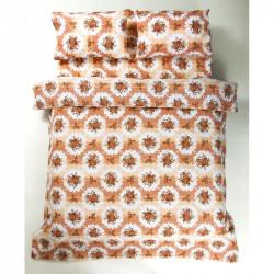 Постельное белье двуспальное Lotus Ranforce - Bouquet коралловый