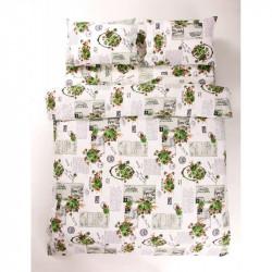 Постельное белье двуспальное Lotus Ranforce - Love Letter зеленый