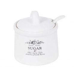 Сахарница керамическая 350мл с ложкой Sweet Home Bona Di 875-327