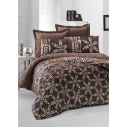 Постельное белье евро Victoria Sateen - Alisa коричневый