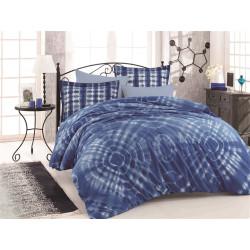 Комплект постельного белья евро Hobby Batik - Egzotik синий
