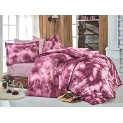 Комплект постельного белья евро Hobby Batik - Gizem бордовый