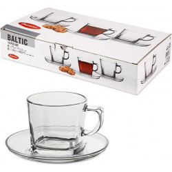 Балтик чашка с блюдцем 6шт. (чашка 215мл, бл. 13,5см)