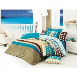 Комплект постельного белья евро LightHouse Puanline голубой