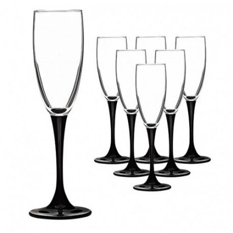 Бокалы для шампанского Luminarc Domino 170мл-6шт