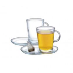 Набор чашка с блюдцем 400 мл 2 шт Pasabahce Трибека 95781