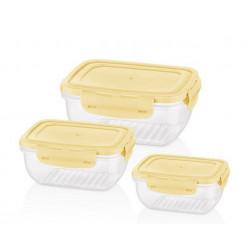 Набор контейнеров круглых 3пр 0.8,1.4,2.3л Bager Cook&Lock MIX BG-526