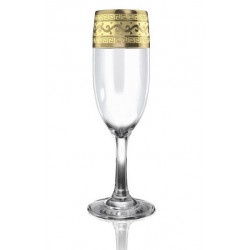 "Бокалы для шампанского 190 мл ""Версаче"" Гусь хрустальный EAV08-419"