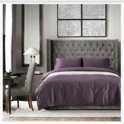 Постельное белье полуторное Bella Villa сатин фиолетовый (B-0042 Sn)