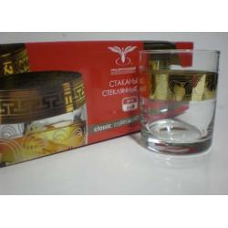 """Набор стаканов для виски 255 мл """"Пирамида"""" Гусь хрустальный TAV92-405"""